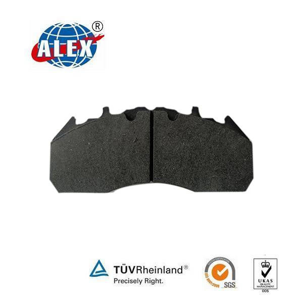 Low high friction brake pad for train